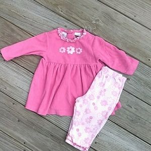 Baby UR IT Pink flower outfit. Size 12M